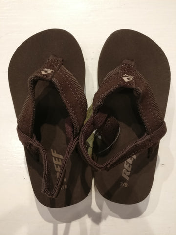 Reef Dark Brown Grom Sandals with backs