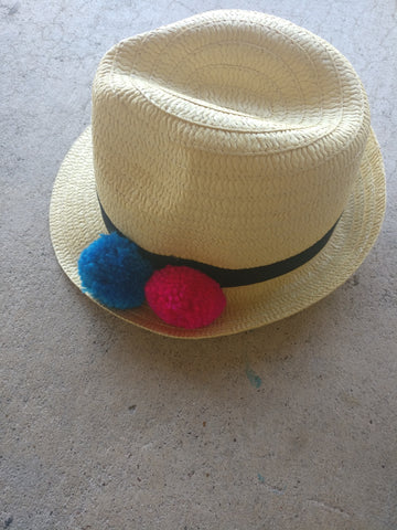 Hipster Baby Fedora Pom Hat (5yrs-adult)