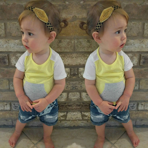 Hipster Baby Hand Distressed Denim Shorts (6-7yrs)