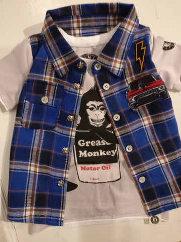 Mini Shatsu Grease Monkey Tee