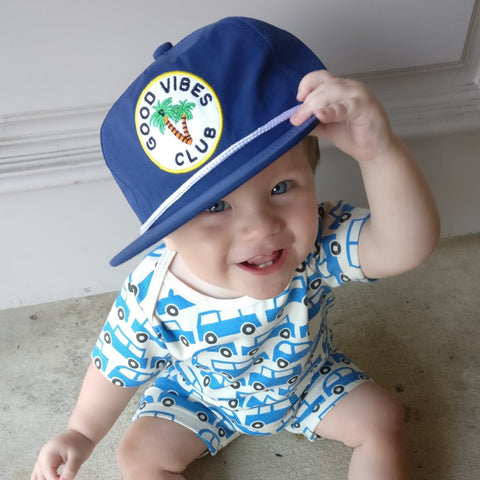 Tiny Whales Good Vibes Snapback (6-12yrs)