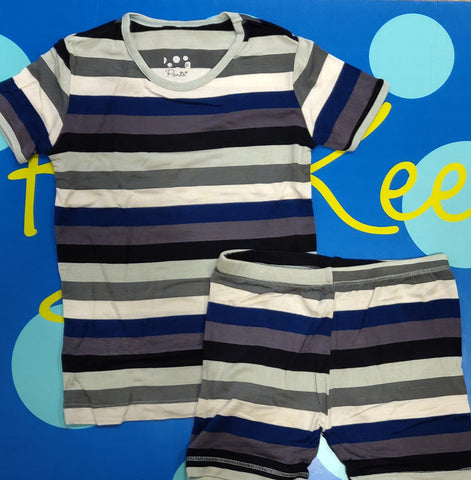 Two Piece Pajama Set Zoology Stripe