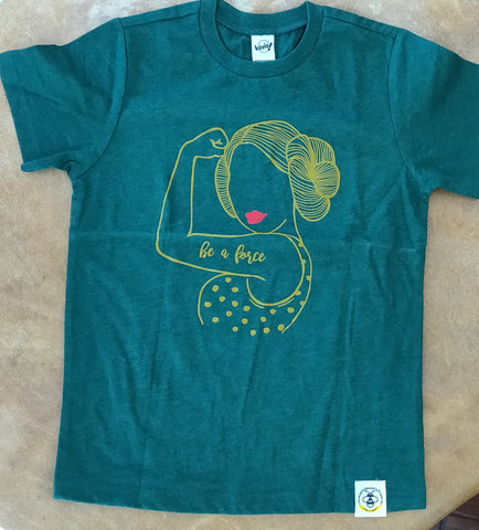 Wire and Honey Be A Force Tee (Limited Edition Green with Gold)