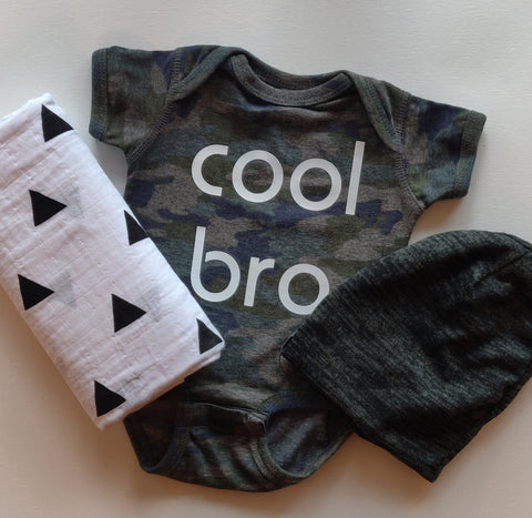 Camo Short Sleeve Cool Bro Onesie