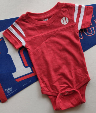 Rookie Baseball Short Sleeve Onesie