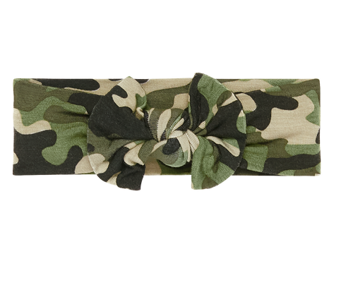Posh Peanut Cadet Camo Infant Headwrap
