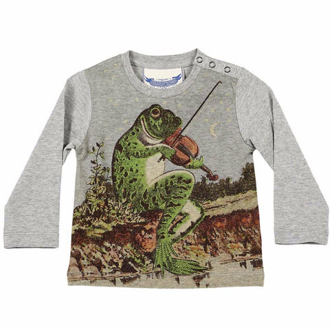 Paper Wings Prince Charming Frog Song Long Sleeve Shirt (3M)