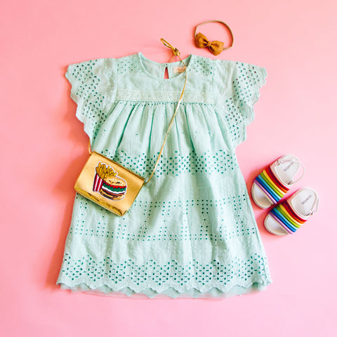 Pink Chicken Eggshell Blue Thea Dress