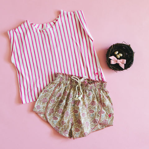 Pink Chicken Fandango Stripe Finley Top