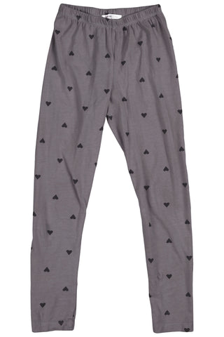 Joah Love Platinum Roz Heart Print Leggings