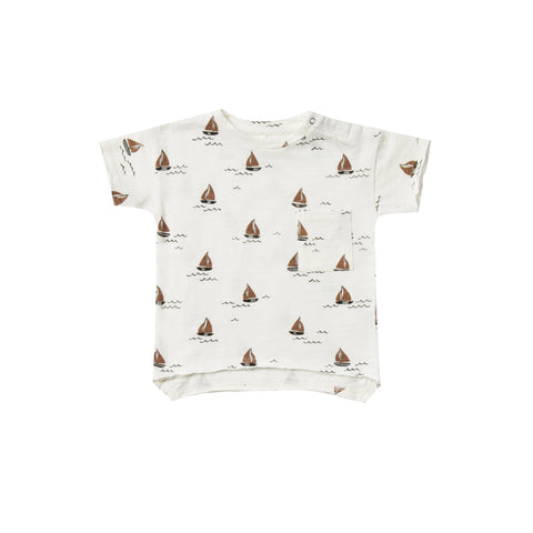 Rylee & Cru Sailboat Raw Edge Tee