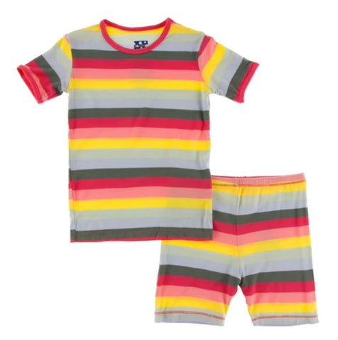 Two Piece Pajama Set Biology Stripe