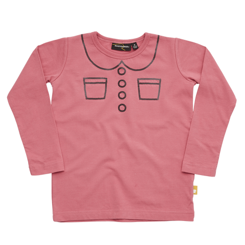 Rock Your Baby Trompe L'Oeil Pink Long Sleeve Shirt (2T)