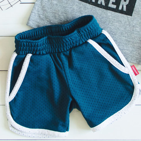 Prefresh Blue Green Mesh Shorts (6-12M)
