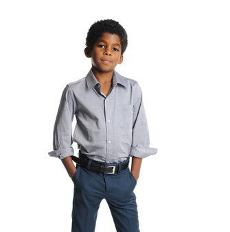 Appaman Grey Long Sleeve Button Down Shirt (2T)
