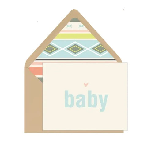 Ginger P Baby Card with Aztec Envelope