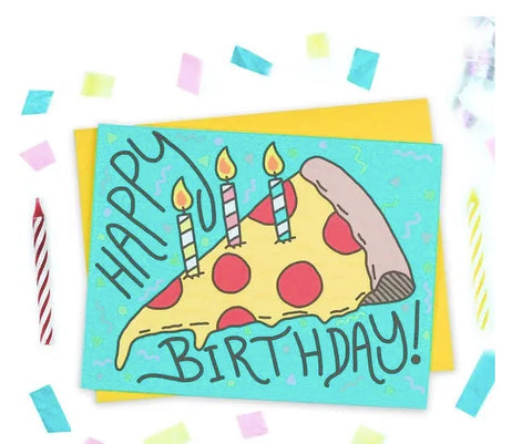 Turtle Soup Pizza Cake Birthday Card