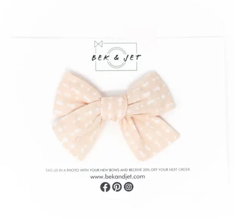 Peaches & Cream Midi Bow