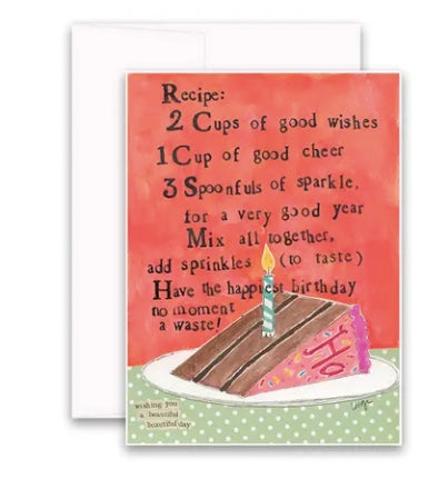 Carly Girl Birthday Cake Card