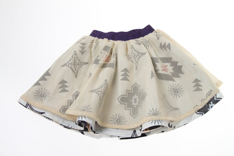 Bitz Kids Stripe and Aztec Print Reversible Skirt