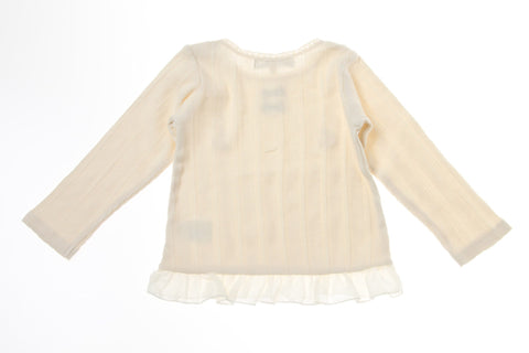 Bitz Kids Ivory Lace Detailed Long Sleeve Top