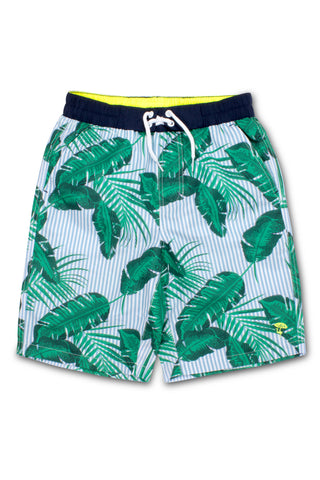 Shade Critters Botanical Print Swim Trunks