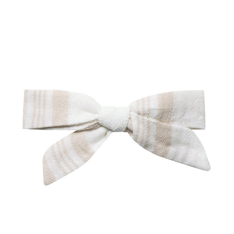 Rylee & Cru Sand Stripe Bow With Clip