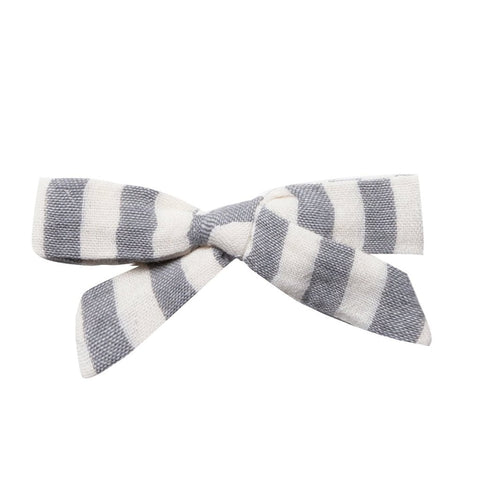 Rylee & Cru Storm Stripe Bow With Clip
