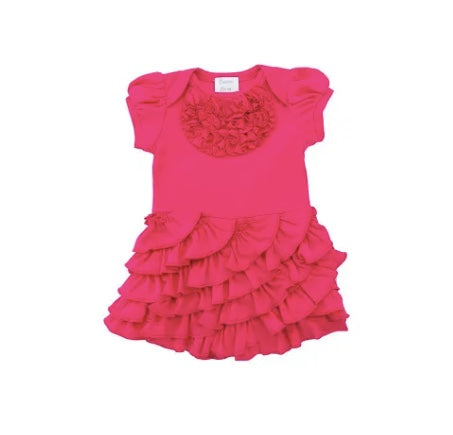 Lemon Loves Lime Cabaret Bright Pink Angel Romper