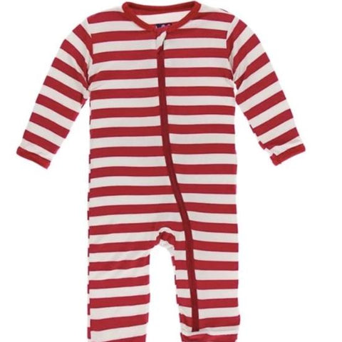 KicKee Pants Candy Cane Stripe Zippered Coverall