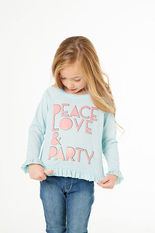 Chaser Peace Love Party Long Sleeve Shirt