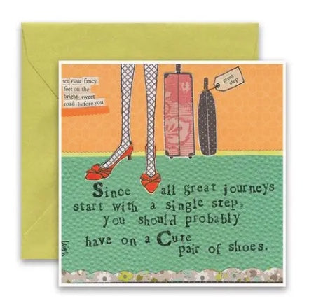 Carly Girl Cute Pair of Shoes Card