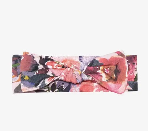 Posh Peanut Dusk Rose Infant Headwrap