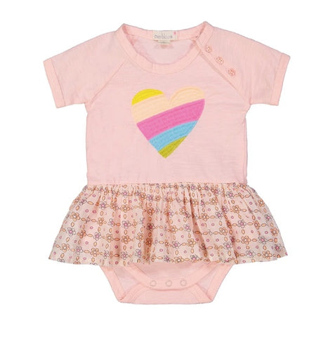 Everbloom Embroidered Heart Skirted Onesie
