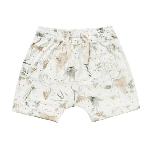 Rylee & Cru Jungle Front Pouch Shorts