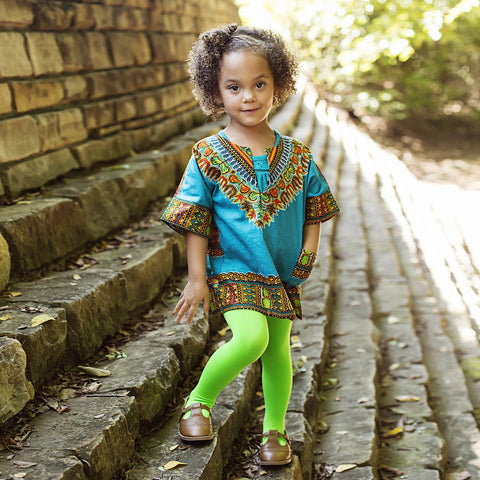 Bapribap Dashiki Tunic (Choose from Hot Pink, Olive, Turquoise)