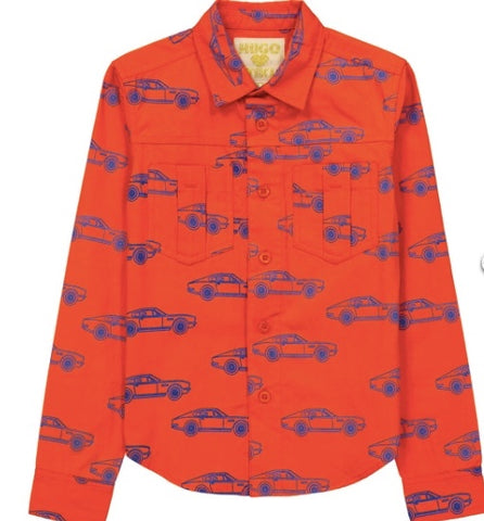 Hugo Loves Tiki Car Collared Shirt