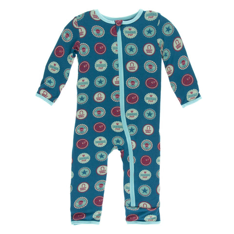 KicKee Pants Soda Pop Caps Zippered Coverall