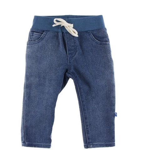 KicKee Pants Slim Fit Dark Wash Jeans (Newborn)