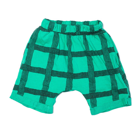 Joah Love Xavier Grid Kelly Green Shorts (12M)