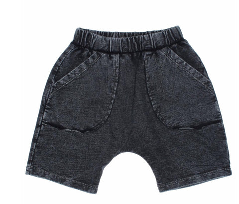 Joah Love Neal Black Vintage Washed Shorts