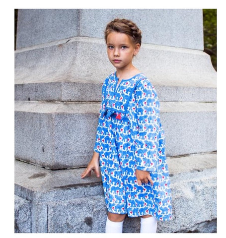 Cheeni Blue Elephant Dress (4T)