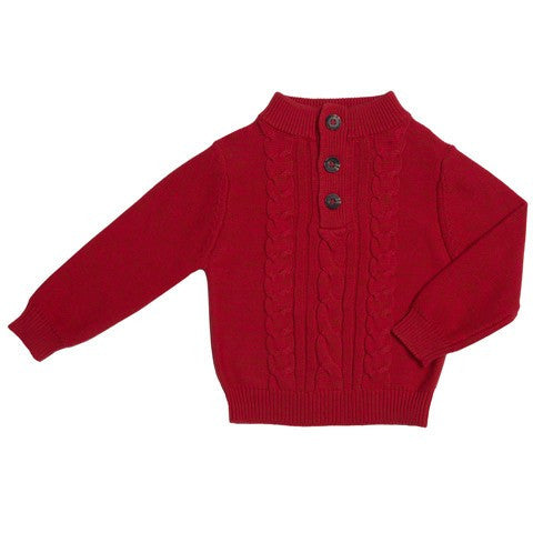 Kapital K Cherry Red Cable Knit Sweater