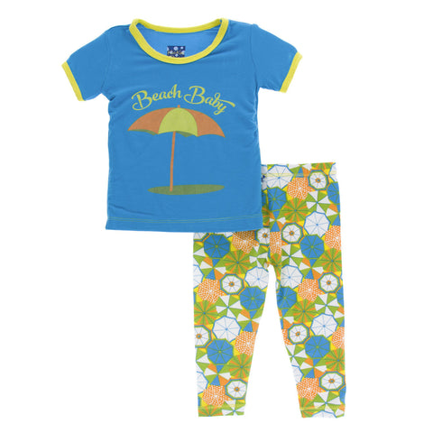 KicKee Pants Beach Umbrellas Pajama Set