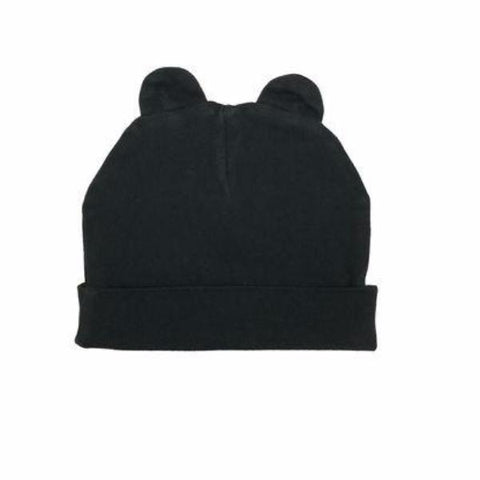 Kira Kids Black Beanie with Ears (18-24M)