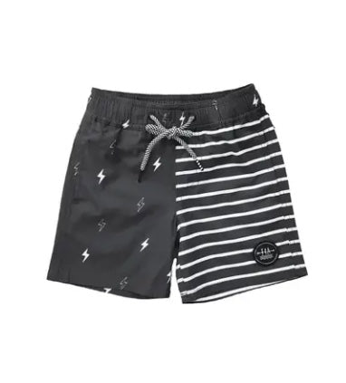 Feather 4 Arrow Lightning Bolt Swim Trunks