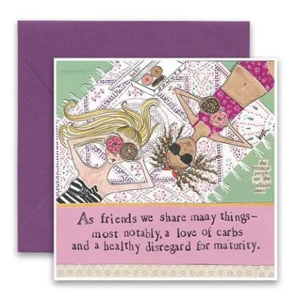 Carly Girl Love of Carbs Card