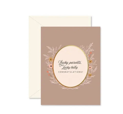 Ginger P Lucky Parents Lucky Baby Card