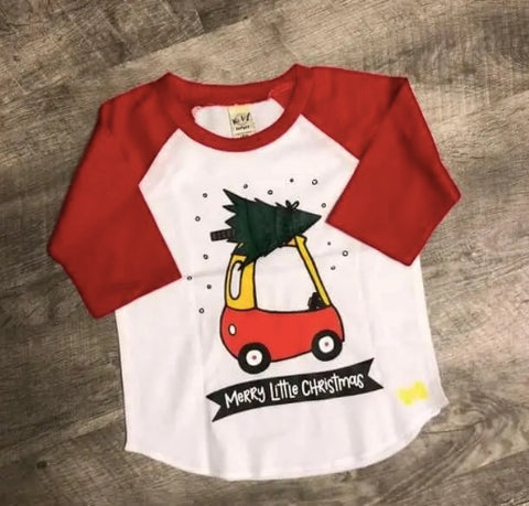 Merry Little Christmas Raglan