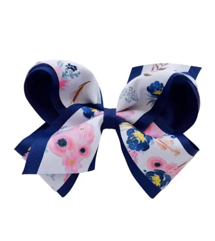 Jennifer Ann Midnight Blush Grosgrain Bow